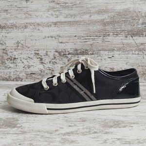 🔴Coach Black Signature C Folly Sneaker